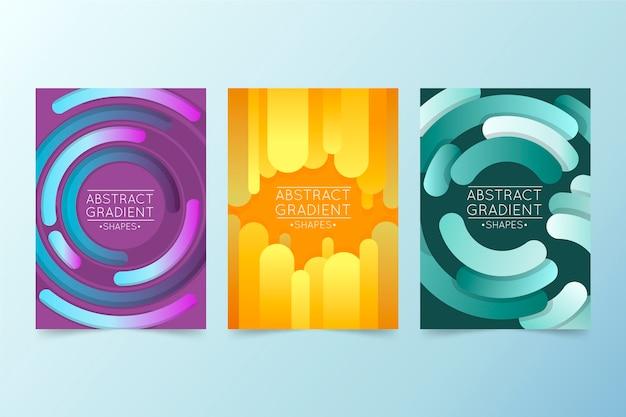 Colección de portadas abstractas de degradado