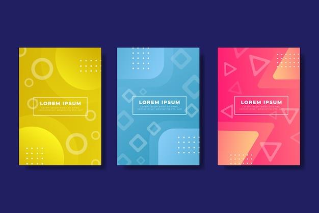 Colección de portadas abstractas geométricas