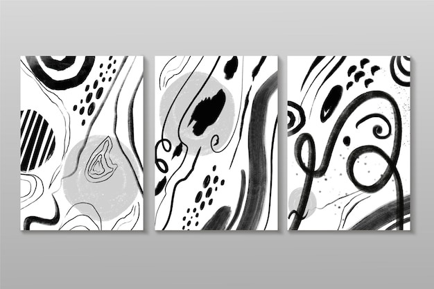 Colección de portadas abstractas incoloras