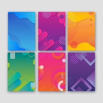 Colección de portadas abstractas de varias formas