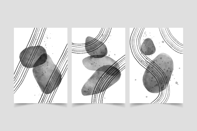 Colección de portadas de acuarela incolora