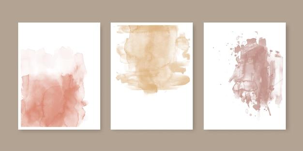 Colección de portadas de acuarela pintadas a mano.