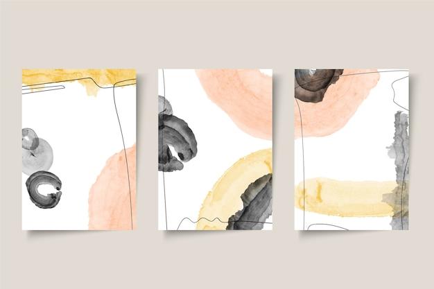 Colección de portadas de acuarela