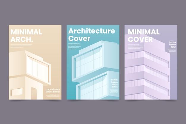 Colección de portadas de arquitectura minimalista.