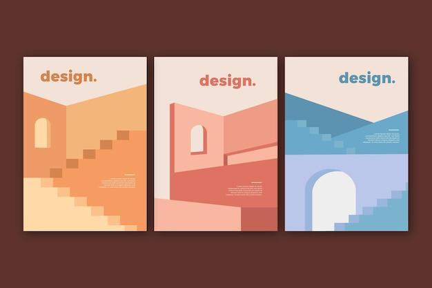 Colección de portadas de arquitectura minimalista
