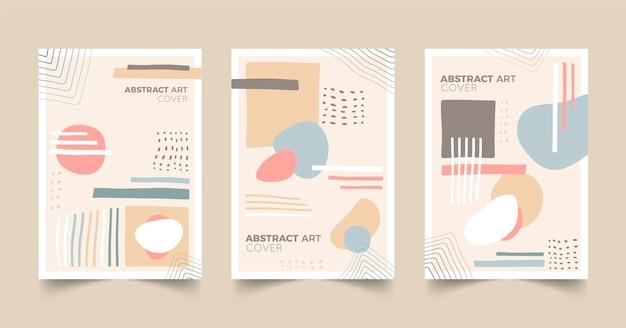 Colección de portadas de arte abstracto plano