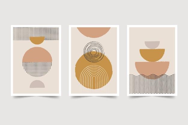 Colección de portadas de arte abstracto