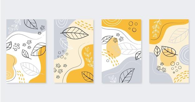 Colección de portadas de arte dibujadas a mano