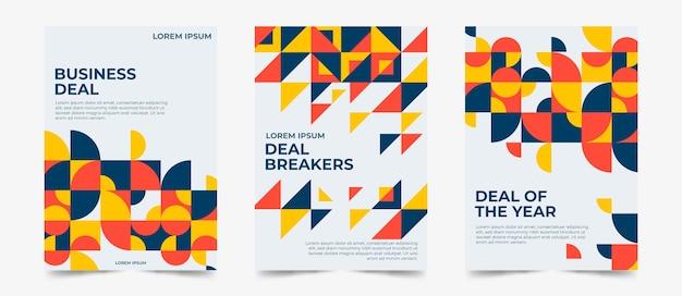 Colección de portadas comerciales geométricas