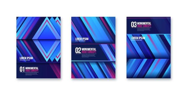 Colección de portadas de concepto monumental