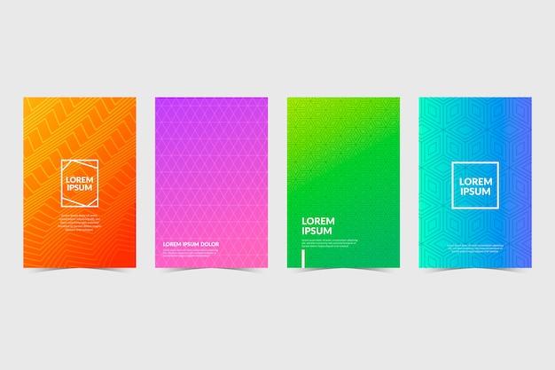 Colección de portadas de degradado de semitono