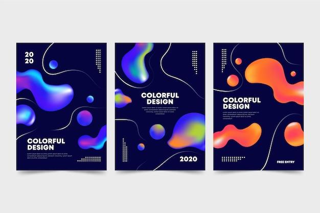 Colección de portadas de diseño abstracto