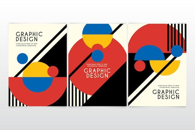 Colección de portadas de diseño gráfico