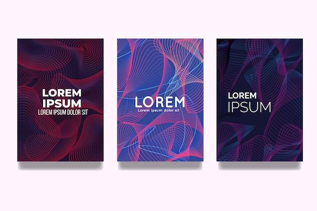Colección de portadas de efecto líquido abstracto colorido