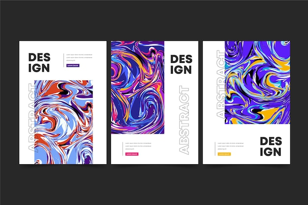 Colección de portadas de estilo abstracto