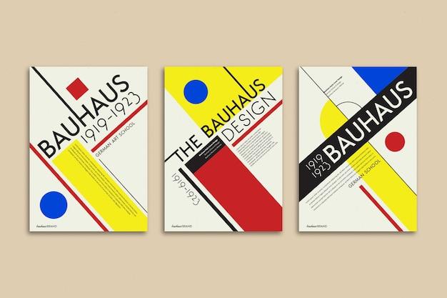 Colección de portadas en estilo bauhaus