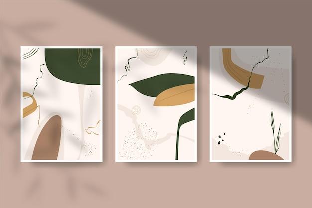 Colección de portadas de formas abstractas