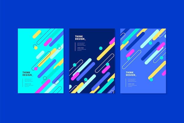 Colección de portadas de formas geométricas