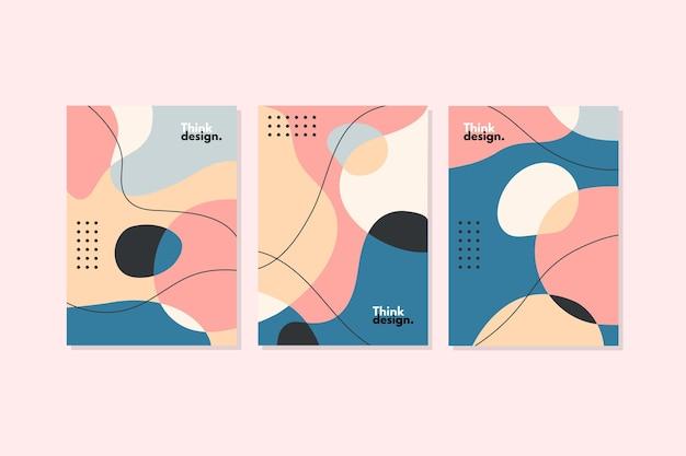 Colección de portadas de formas orgánicas