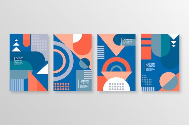 Colección de portadas geométricas abstractas