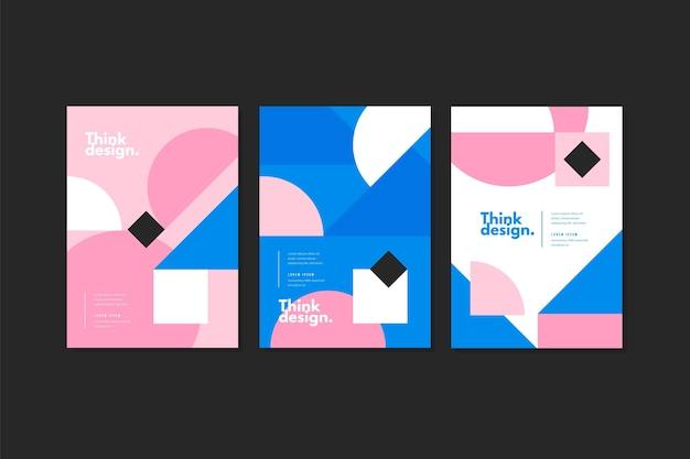 Colección de portadas geométricas abstractas.