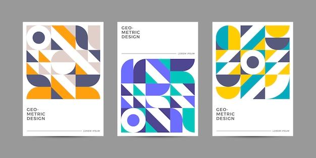 Colección de portadas geométricas retro