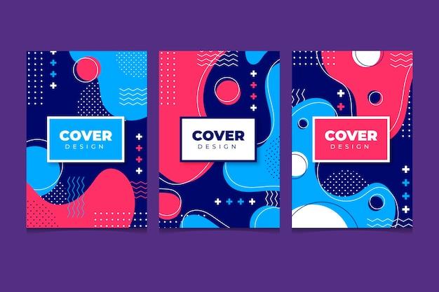 Colección de portadas de memphis