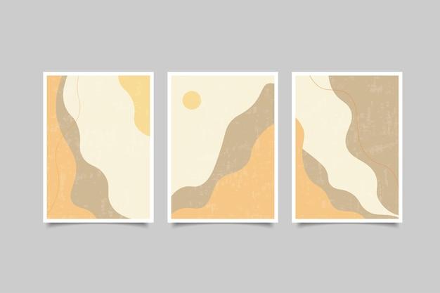 Colección de portadas modernas abstractas