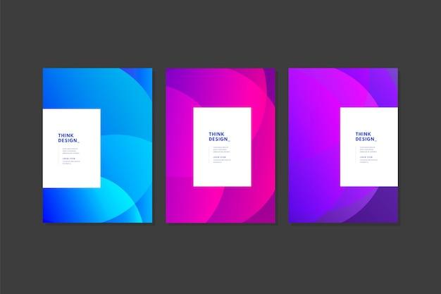 Colección de portadas monocromáticas abstractas
