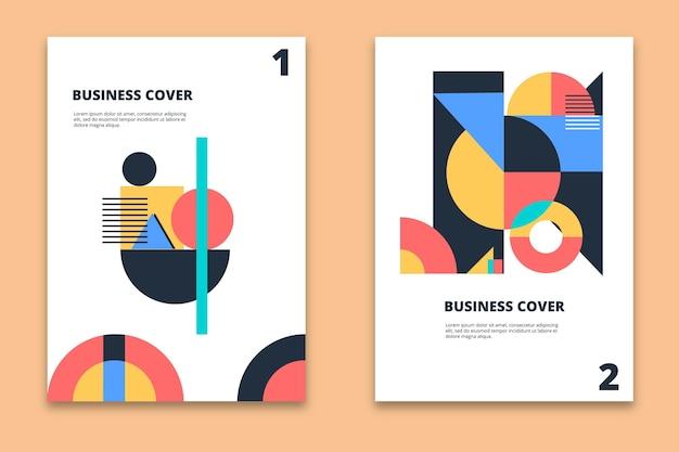 Colección de portadas de negocios abstractos