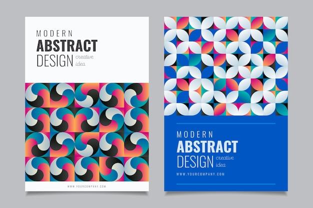 Colección de portadas de negocios geométricos abstractos