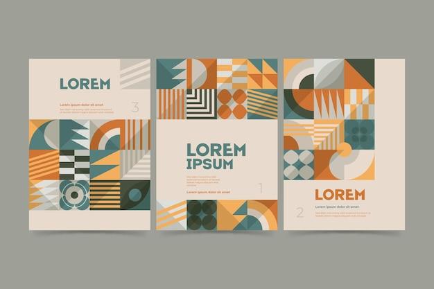 Colección de portadas de negocios posmodernos abstractos