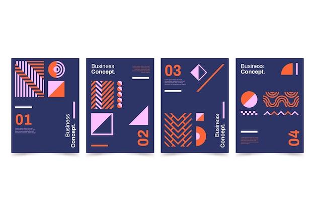 Colección de portadas de negocios posmodernos