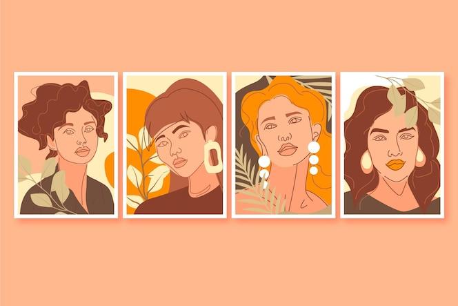 Colección de portadas de retratos de moda