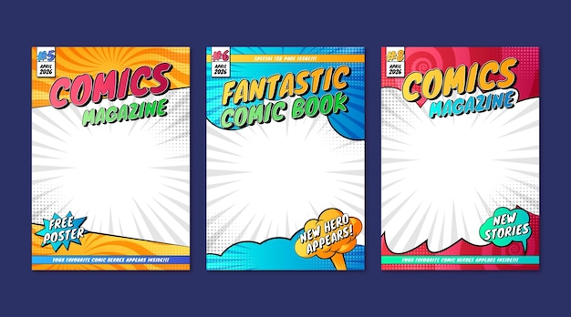 Colección de portadas de revistas de cómics
