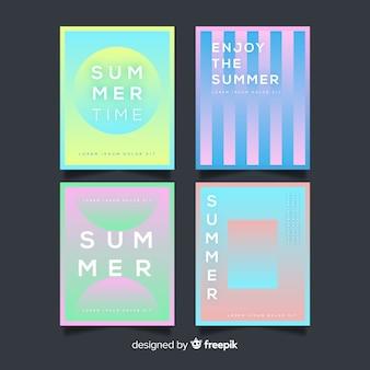Colección de portadas de verano abstractas