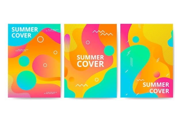 Colección de portadas de verano de memphis.