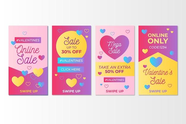 Colección de post venta de san valentín