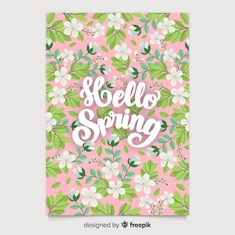 Colección de póster estacionales dibujado a mano