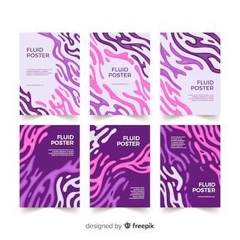 Colección de poster de formas fluidas