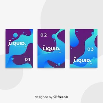 Colección póster formas fluidas