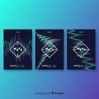 Colección de póster con sondas de música electrónica