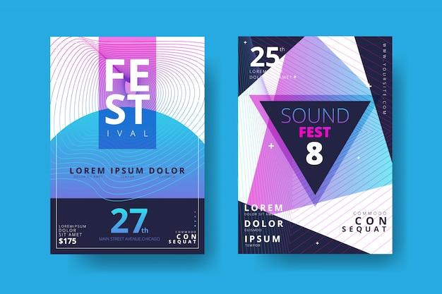 Colección de pósters de música electrónica