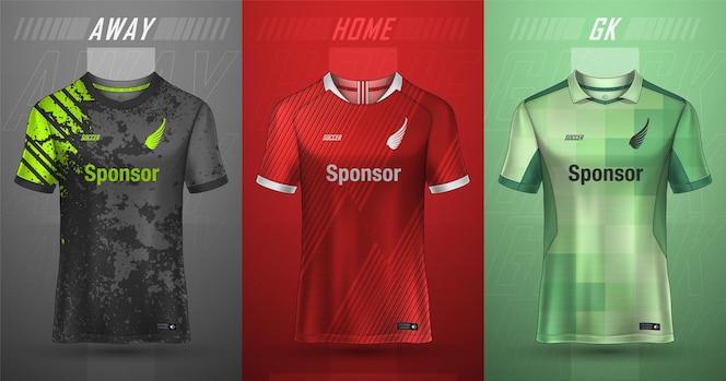 Colección premium de camisetas de fútbol