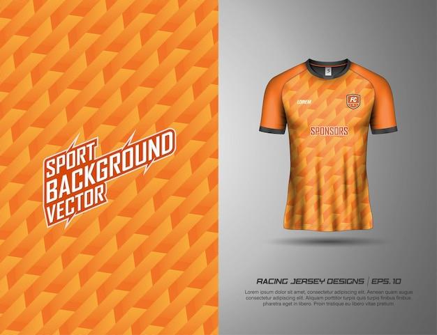 Colección premium de fondo abstracto de camisetas de fútbol