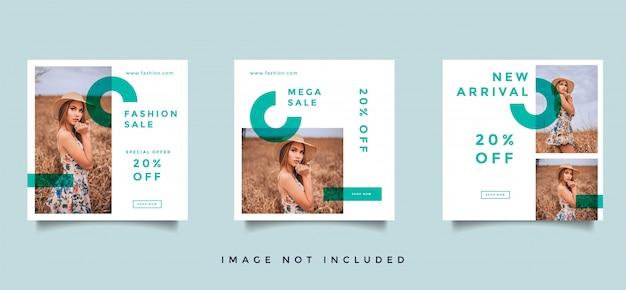 Colección de promoción de publicaciones de medios sociales de moda