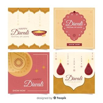 Colección de publicación de instagram de diwali
