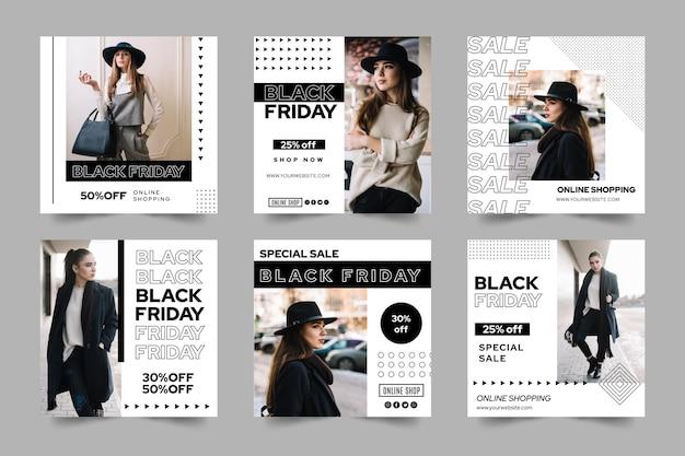 Colección de publicaciones de black friday ig