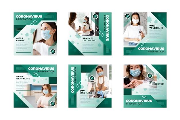 Colección de publicaciones de coronavirus ig