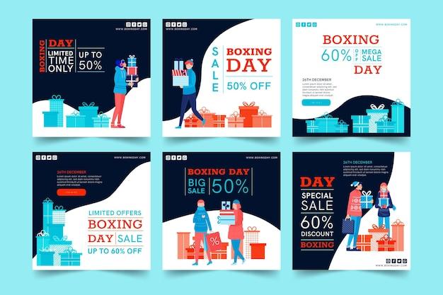 Colección de publicaciones del día del boxeo ig